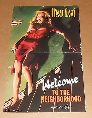 Meatloaf Welcome to the Neighborhood Poster 2-Sided Original Promo 13x22