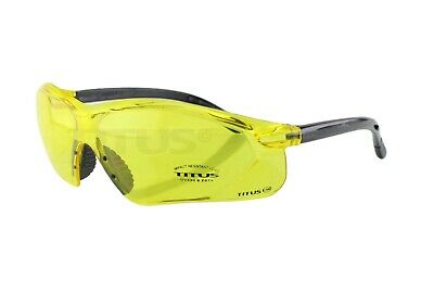 TITUS G34 Yellow Z87+ Tactical Safety Glasses w Integrated Close Fit Side Shield