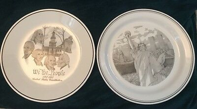 Vintage Corning Corelle 1987 Founding Fathers US United States Constitution