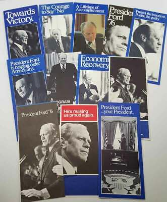 Gerald Ford Set of 10 Campaign Brochures