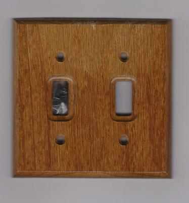 American Tack & Hardware Double Toggle Switch Plate Red Oak (C4007Tt)*