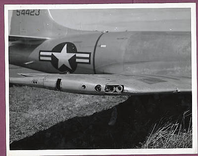 1950s Lockheed T-33A Shooting Star 54423 Belly Landed 8x10 Original Photo