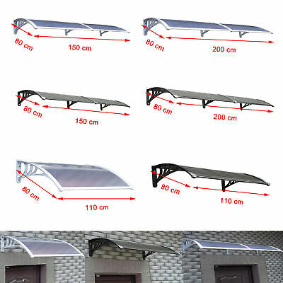 2 Colours 3 Sizes Window Door Canopy Awning Sun Shade Roof Shelter Rain Cover