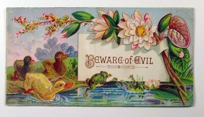 Card Beware of Evil Vintage Trade Ad Card