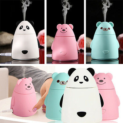 USB LED Ultrasonic Home Aroma Humidifier Air Diffuser Purifier Lonizer Atomizer