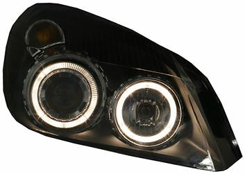 Vauxhall Astra H (04-08) Black Halo Angel Eye Projector Front Headlights Lights