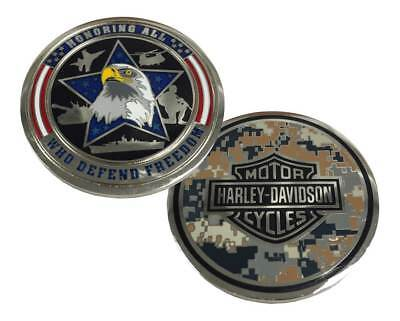 Harley-Davidson Honoring Freedom Military Challenge Coin, Silver 8003845