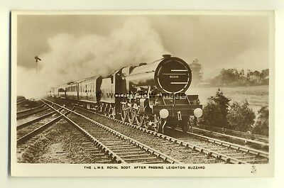 ry436 - LMS Railway Engine no 6100 Royal Scot - postcard