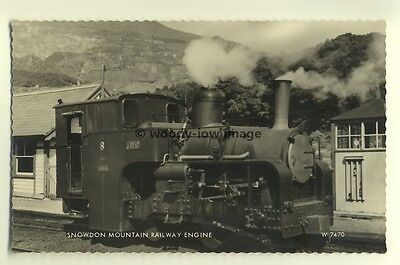 ry456 - Snowdon Railway Engine no 8 Eryri - postcard