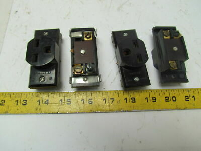 Wiremold 2127GB Grounding receptacle 15A 250V Lot of 4