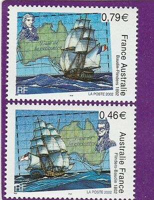 France 2002 Flinders-Baudin 1802, Joint Issue with Australia 0.46 + 0.79 Euro