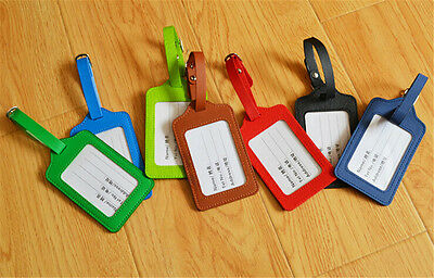 Leather luggage tag boarding board chassis anti-lost luggage tag Free Shipping