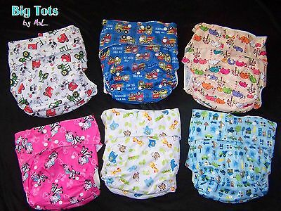 Adult Baby Pocket Diaper w/insert snap style leg gussets *Big Tots by MsL**