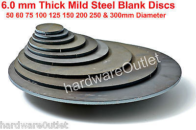 6.0 MM Thick Mild Steel Discs -Guillotine Press Brake Folder Fly Press Lathe MIG