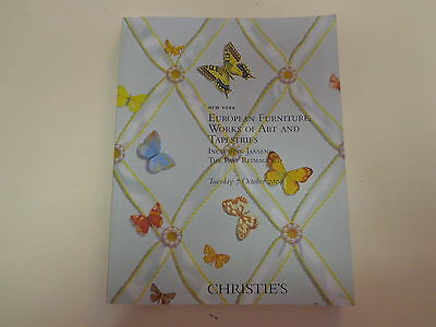 Christie's European Furniture Art Tapestries Auction Catalog October 7, 2008