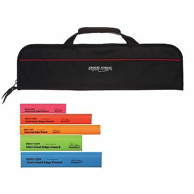 5 Pocket Chef Knife case roll bag w 5 pack knife edge guards Chef Gear Ergo Chef