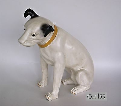 Nipper Rca Dog Statue Doorstop Resin Figure Large 13 Inches - Ships Free