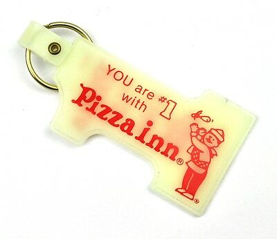 Vintage Coca-Cola USA Schlüsselanhänger Key Chain - Pizza Inn # 1 - with Coke