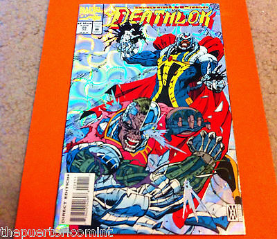 July 1993 DEATHLOK # 25 MARVEL COMICS Metallic SILVER Hologram Cover DOUBLESIZED