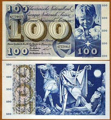 Switzerland, 100 Francs, 1963, P-49 (49e),  UNC > Free shipping worldwide