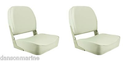 2 x Brand New Boat Classic Low Back Folding Chair / Seat in White