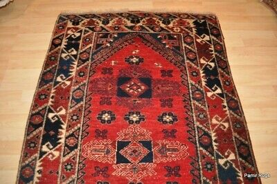 Turkish Tribal 4'X6' AUTHENTIC WOOL Oriental rug handmade, hand knotted #PM75