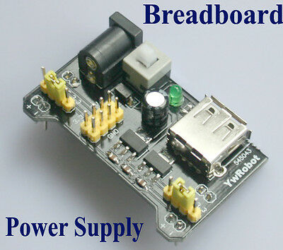 Breadboard Power Supply Module Shield 3.3V 5V MB102 Solderless Bread Board