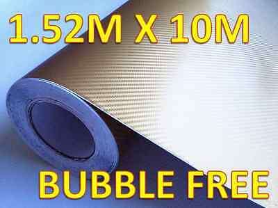 Gold Carbon Fibre 3D Vinyl Sheet Roll Full Car Wrap 1.52m X 10m 'Bubble Free'