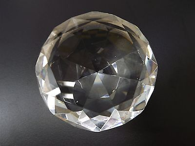 """NEW Diamond Shaped Faceted CRYSTAL Glass PAPERWEIGHT 4"""" X 2''"""