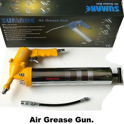 AIR GREASE GUN 500cc WITH FLEXIBLE EXTENSION- NEW IN BOX.