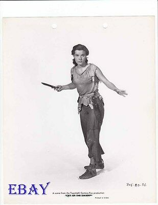 Jean Peters busty w/knife VINTAGE Photo Lure Of The Wilderness
