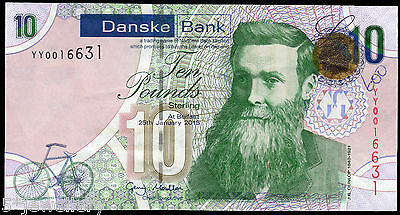 REPLACEMENT 2013 DANSKE BANK LTD belfast £10 banknote grades UNC EF VF F