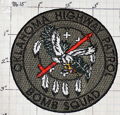 Oklahoma Highway Patrol Police Bomb Squad Subdued Patch