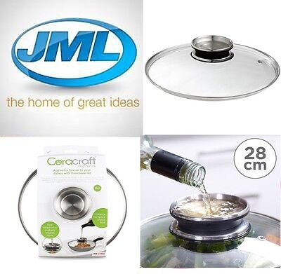 JML 28cm Aroma Pan Lid for Ceracraft/Regis Stone Saucepans and Frying Pans