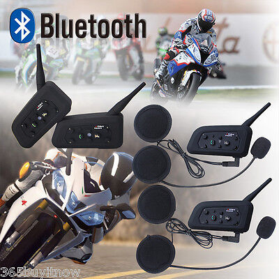 2X6 Rider 1200M BT Motorcycle Helm Headset Intercom Interphone Gegensprechanlage
