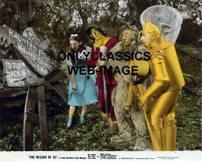 1939 Wizard Of Oz Color Movie Photo Old Haunted Forest Witches Sign Judy Garland