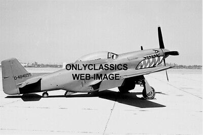 1944 Wwii P-51 Mustang Fighter Tiger Teethe Airplane Aviation Photo World War Ii