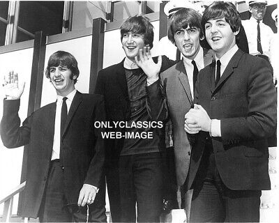 The Beatles Fab Four Rock & Roll Band Arrive In America Photo Music Icon Legends