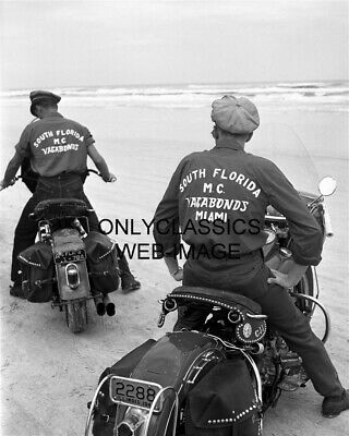 1948 Vagabonds Motorcycle Club Miami Fl Daytona Speedweeks Photo Harley Davidson