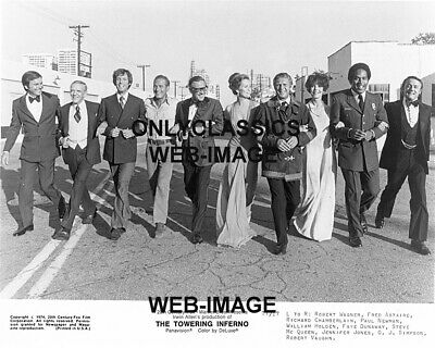 1973 Mcqueen Newman Asraire Holden Dunaway Simpson Wagner Towering Inferno Photo