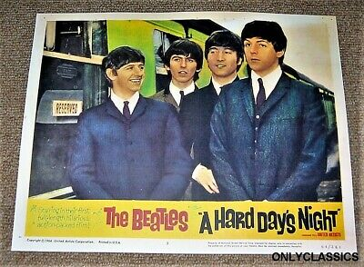 "1964 The Beatles By Locomotive Train ""a Hard Day's Night"" Movie Poster Rock-Roll"