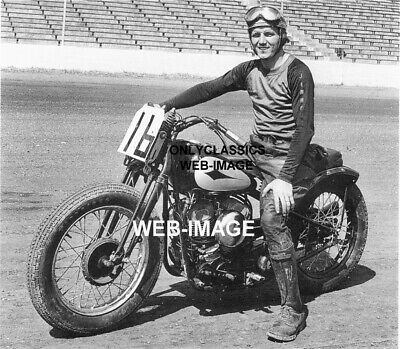 1947 Ama Motorcycle Racing Champ Racer -Jimmy Chann Harley Davidson Cycle Photo