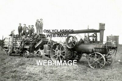 1912 Minneapolis Moline Vintage Steam Tractor Thrasher Minnesota Farm 8X12 Photo