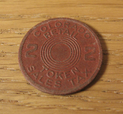 Vintage Colorado Retail Sales Tax Token 2 Two with Gift Box