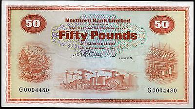 Northern bank LTD Belfast £50 fifty Pound banknotes 1970 1999 2005 real currency