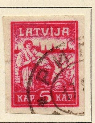 Latvia 1919 Early Issue Fine Used 5k. 013012