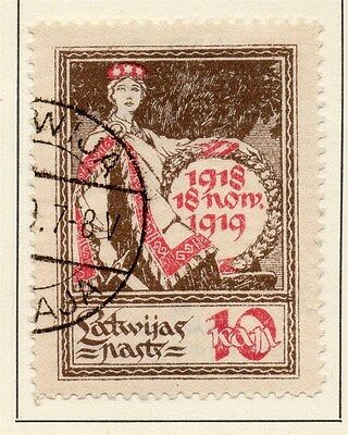 Latvia 1920 Early Issue Fine Used 10k. 013018