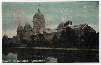 1909 MELBOURNE AUSTRALIA early EXHIBITION BUILDING postcard