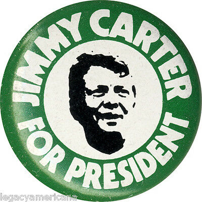1976 Jimmy Carter for President Campaign Button (2865)