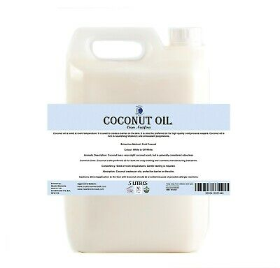Mystic Moments   Coconut Carrier Oil - 100% Pure - 5Kg (OV5KCOCO)